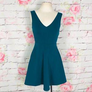 Forever 21 v neck fit and flare dress